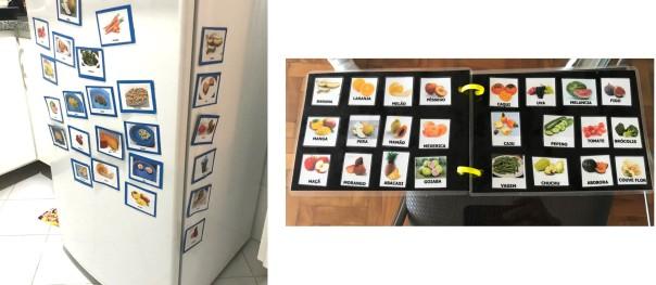 cardapio e geladeira